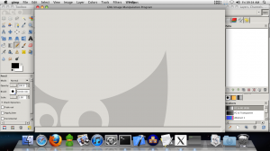 Screenshot of GIMP using Quartz