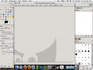 Screenshot of GIMP on OS X