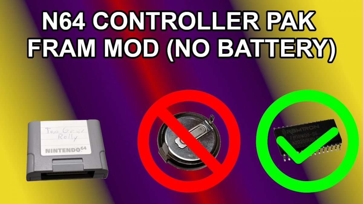 FRAM Mod for N64 Details